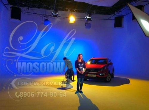 Циклорамы для съемок автомобиля в Москве