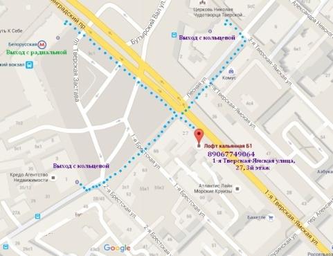 адрес лофта в Москве, карта