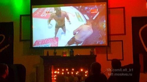 уютное кафе с экраном и трансляцией в центре Москвы