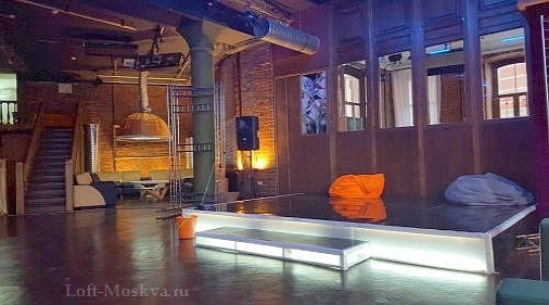 аренда лофта со сценой Москва