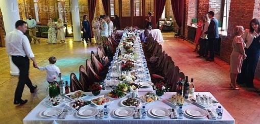 Проведение свадебного банкета в лофте Москва